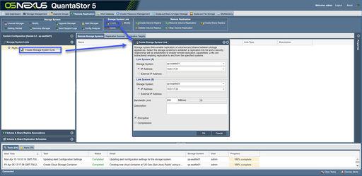 Remote-replication (DR) - OSNEXUS Online Documentation Site