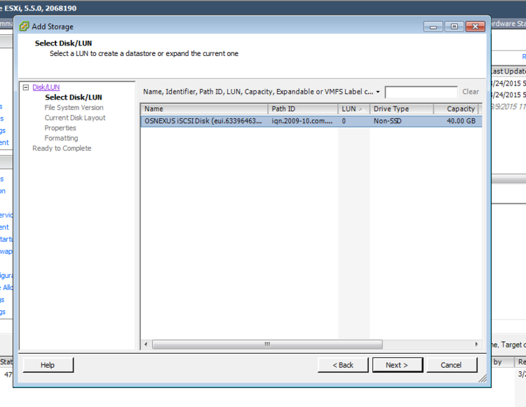 Vmware Import Datastore select LUN.png