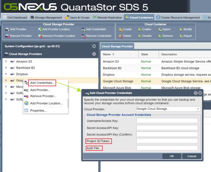 Google Cloud Integration - OSNEXUS Online Documentation Site