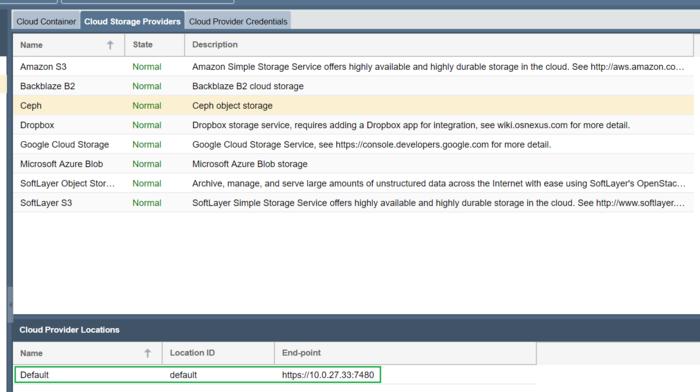 Ceph Object Storage - OSNEXUS Online Documentation Site