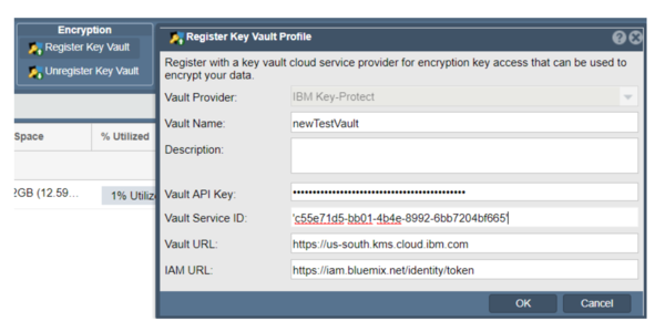 Register IBM Key Protect Credentials